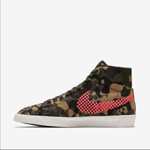 Nike Blazer Mid Jacquard Camo High Top Sneakers